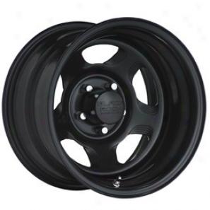 """black Rock Steel Wheel 941 Dune Matte Black 15s10"""" - 5x5.5 Bolt Pattern Back Spacing 4"""""""