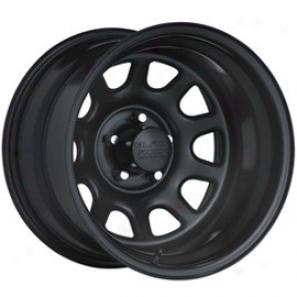 """black Reel Steel Wheel 942 Type D 15x10"""" 5x4.5 Bolt Pattern Back Spacing 4"""""""