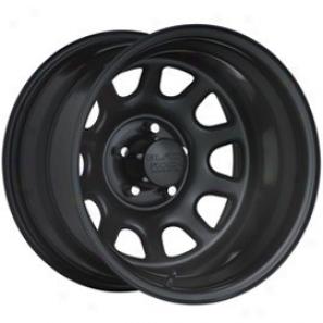 """""""black Rock Steel Wheel 942 Type D 17x9"""""""" 5x5.5 Bolt Pattern Back Spacing 5"""""""""""""""