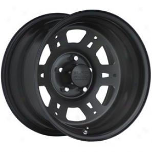 """""""black Rock Steel Wheel 950 Lobo 15x7"""""""" 5x4.6 Bolt Pattern Back Spacing 4"""""""""""""""