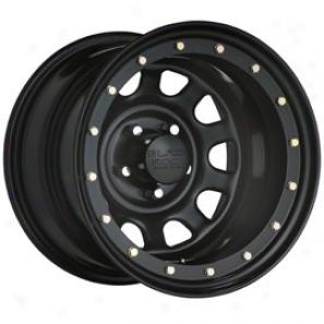"""black Rock Steel Wheel 952 Street Lockk 16x8"""" 5x4.5 Bolt Pattern Back Spacing 5"""""""