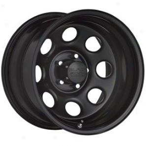 """black Rock Steel Move on ~s 997 Tpye 8 15x7"""" 5x4.5 Bolt Pattern Back Spacing 4 1/4"""""""