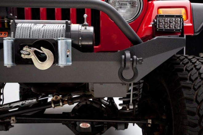 Body Armor Formed Front Bumper With Winch Plate And Grille Guard