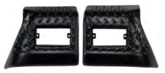 Body Armor Front Fender Corner Kit Pair, Plastic