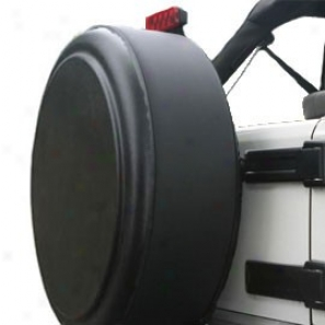 """""""boomerang Masterseries 29"""""""" Blank Unpainted Black Faceplate With Powdercoated Black Stainless Steel Tire Cover Ring"""""""