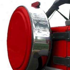 """""""boomerang Mzsterseries 32"""""""" Polished Void Deep Flame Red Facdplate With Stainless Steel Tire Cover Tingle"""""""
