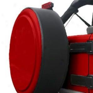 """boomerang Rigid 29"""" Deep Flame Red Tire Cover W/o Graphics"""