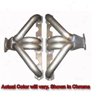 Conversion Headers Inside Form Rail Bare Metal Cbevy V8 Small Block D-port Angle Heads
