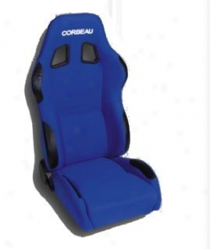 Corbeau A4 Reclining Seat Blue Cloth (pair)