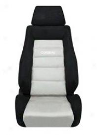 Corbeau Gts Ii Reclining Seat, Black/grey Micro-suede (pair)