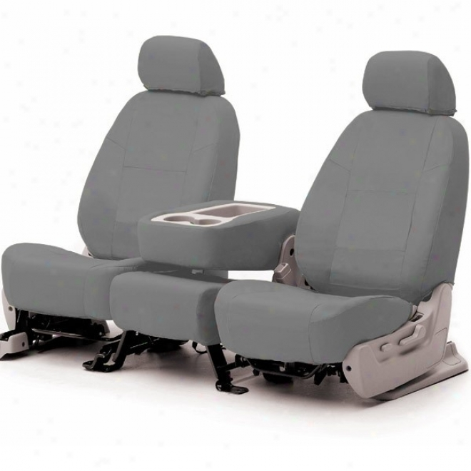 Coverking Front Bucket Seat Cover Genuine Leather Grey