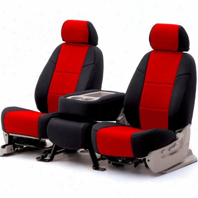 Coverking Front Bucket Seat Cover Neoprene Red/blwck