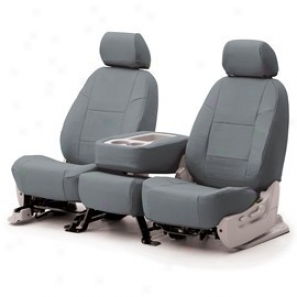 Coverking Front Highback Bucket Seat Cover Leatherette Gray