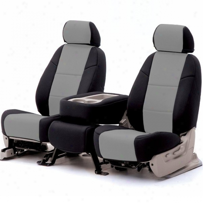 Coverking Front Non-reclining Bucoet Lratherefte Gray/black