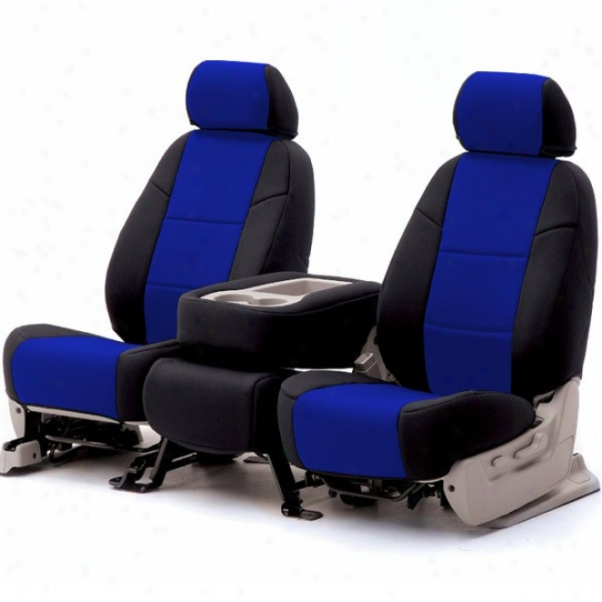Coverking Front Reclining Seat Cover Spacer Mesh Blue/black