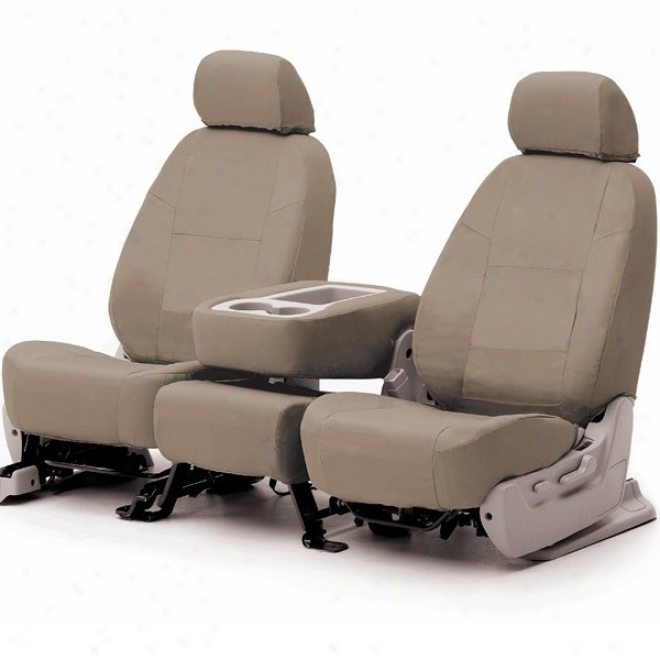 Coverking Front Seat Cover Pure Leather Beige