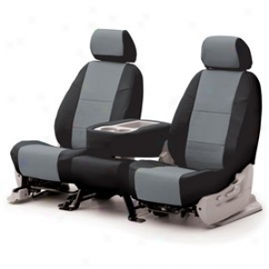 Coverking Middle Row Seat Cover Leatherette Gray/black