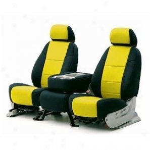 Coverking Middle Row Seat Cover Neoprene Yellow/black