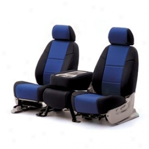 Coverking Rear 60/40 Split Bench Seat Cover Neoprene Blue/black