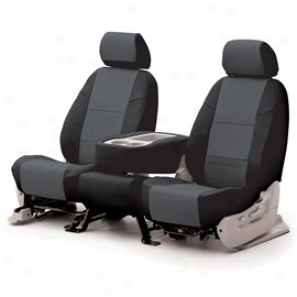 Coverking Exalt Seat Cover Leatherette Charcoal/black