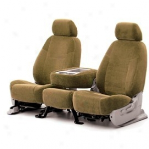 Coverking Rear Solid Bench Seat Cover Velour Tan