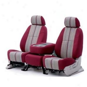 Coverking, Seat Cover, Rear 60/40 Split Bench, (saddle Blanket - Wine On Tan)