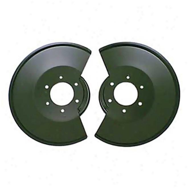 Disc Brake Rotor, Front, Powdercoated Black (pair)