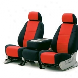 Economy Coverking Front Seat Cover With Logo Neoprene Black/red