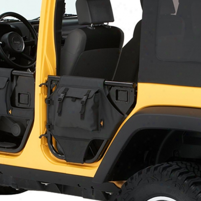 Element Rear Doors By the side of Storage Bags, Black Diamond