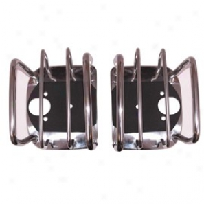 Euro Tail Light Guard Pair, Stainless