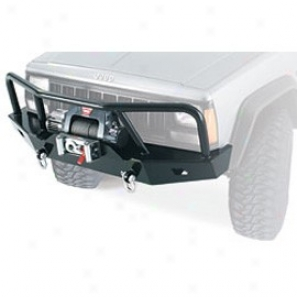 Front Bumper With Grille Guards, Black