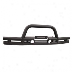 Front Bumper With Winch Cutout, Textured Black