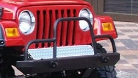 Front Frame Cover For Tube Bumper Polished Aluminum