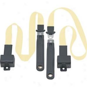 Front Metal Push Button 2 Point Retractable Lap Belts, Pure