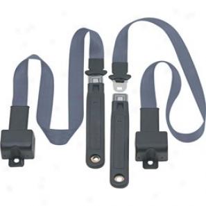Front Metal Push Button 2 Point Retractable Lap Belts, Blue