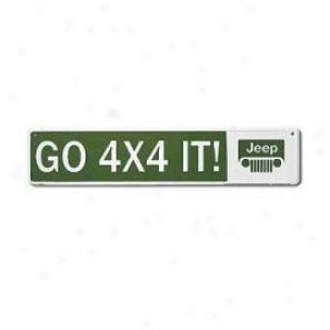 Go 4x4 It: Jeep Street Sign