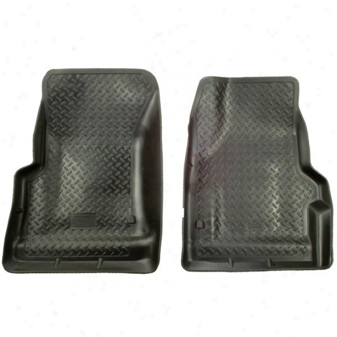 Dry Front Floor Liner, Black (pair)