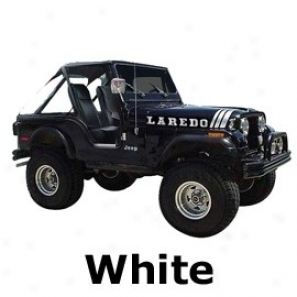 Jeep Decal Ladedo Kit, White