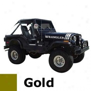 Jeep Decal Wrajgler Kit, Gold