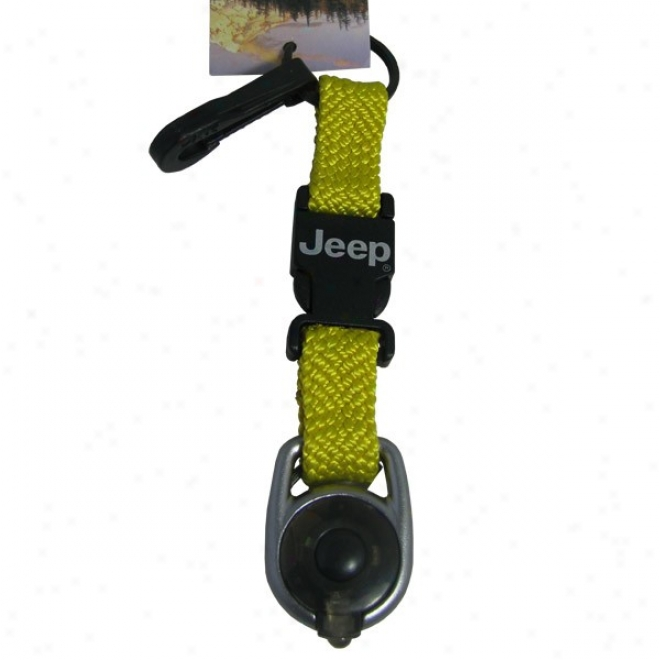 Jeep Deluxe Key Retainer With Led Light, Yellow