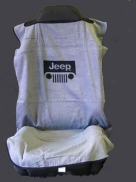 Jeep Seat Towel Grey With Jeep Grille Logo