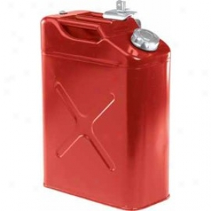 Jerry Can 5 Gal/20 Liter Mteal Tank Red