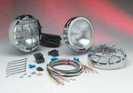 """kc Hilites Haze Light Kit, 6"""" Round Clear Chrome 100w Couple"""