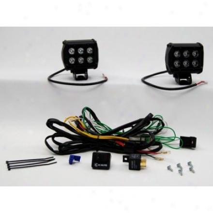 Kc Hilites Led 4'' 18w Rectangular Driving Lights (pair)