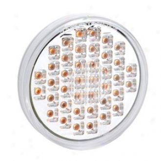 Kc Hilites Led  4'' Round Turn Signal, Clear/amber (single)
