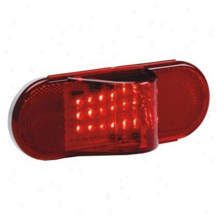 """""""kc Hilites Led 6"""""""" Oval Turn Signal/side Marker Light Red"""""""