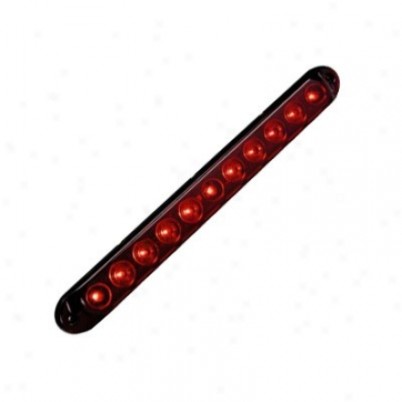Kc Hilites Led Light Bar Tailbrake Light Center Mount Red/red