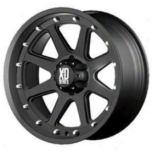 """kmc Xd Series Addict Wheel, Matte Back & Machined, 17x9"""" - 5x5.5"""" Bolt Pattern, Back Spacing 4.53"""""""