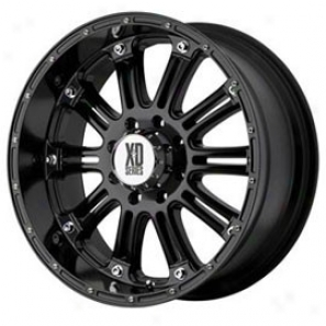 """kmc Xd Series Hoss Wheel, Gloss Black, Size: 17"""" X 9"""" - Bolt Pattern: 5 X 5.0"""", Back Spwcinv: 5.71"""""""