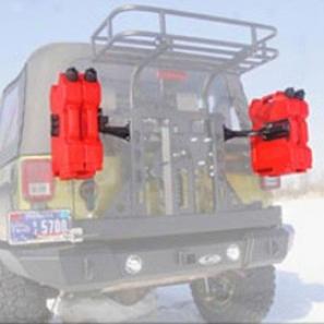 Lod Gen 3 Rotopax 2-3 Gallon Gas Can Mounts, No Finish